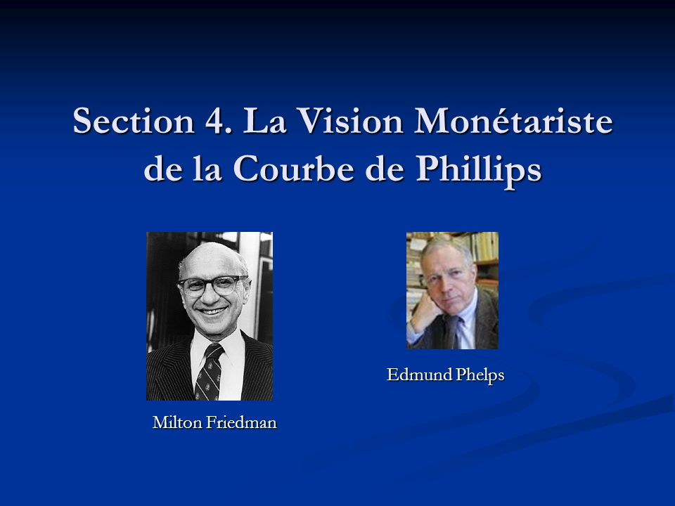 Section 4. La Vision Monétariste de la Courbe de Phillips