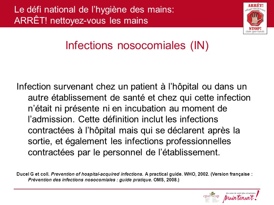 Infections nosocomiales (IN)