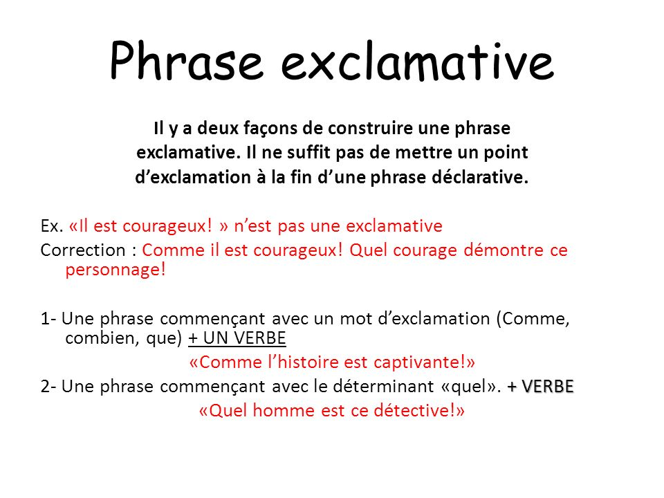 Phrase exclamative