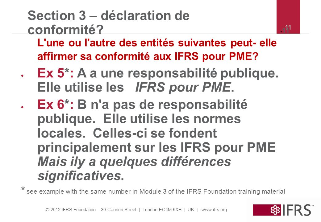 Section 3 – déclaration de conformité