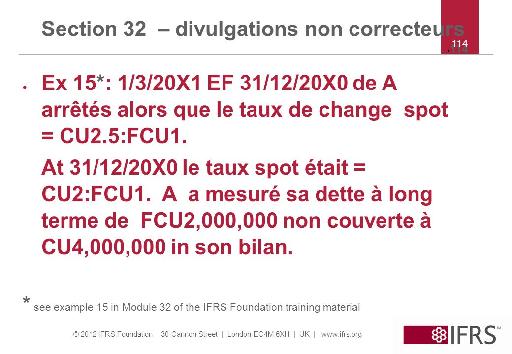 Section 32 – divulgations non correcteurs