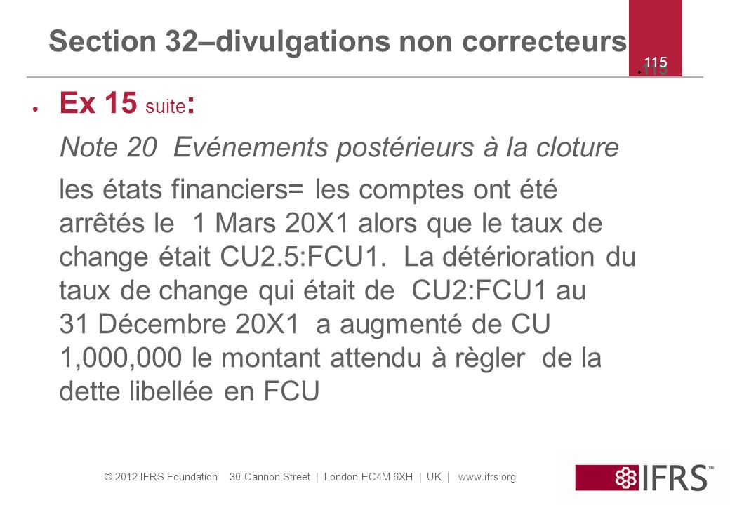 Section 32–divulgations non correcteurs