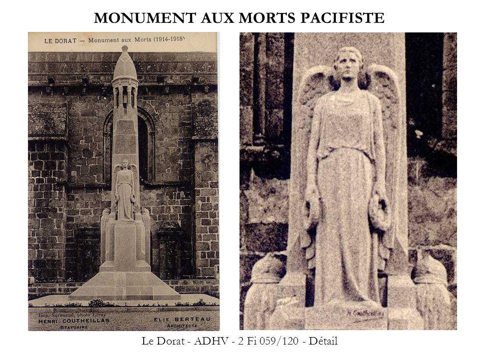 MONUMENT AUX MORTS PACIFISTE