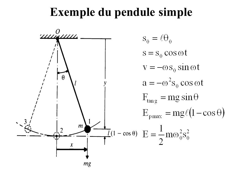 Exemple du pendule simple
