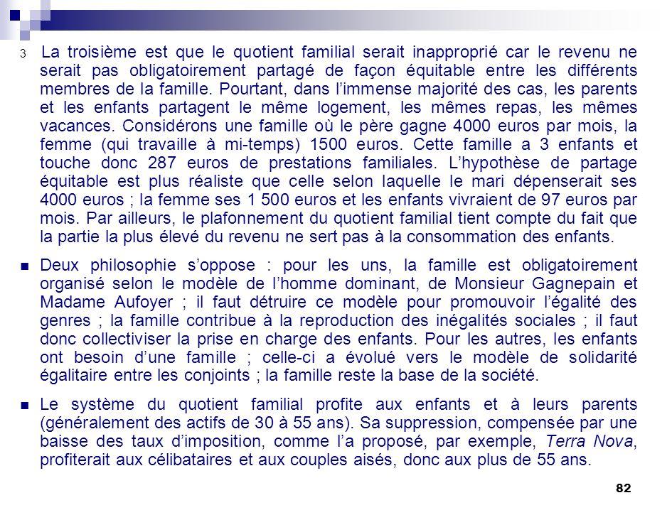 Politique Familiale Et Redistribution Sociale Ppt Telecharger