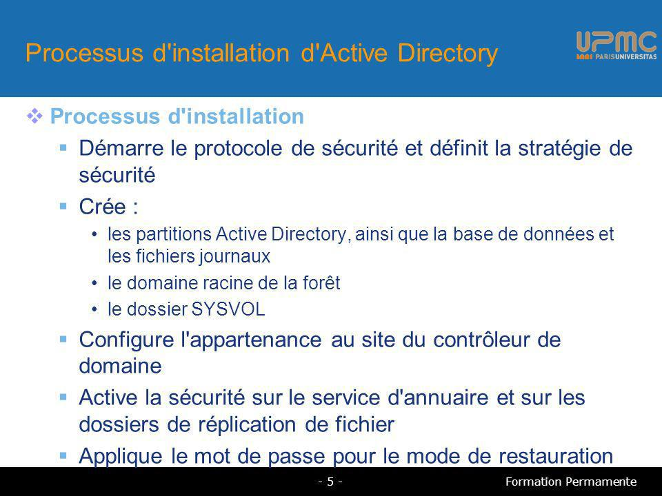 Processus d installation d Active Directory