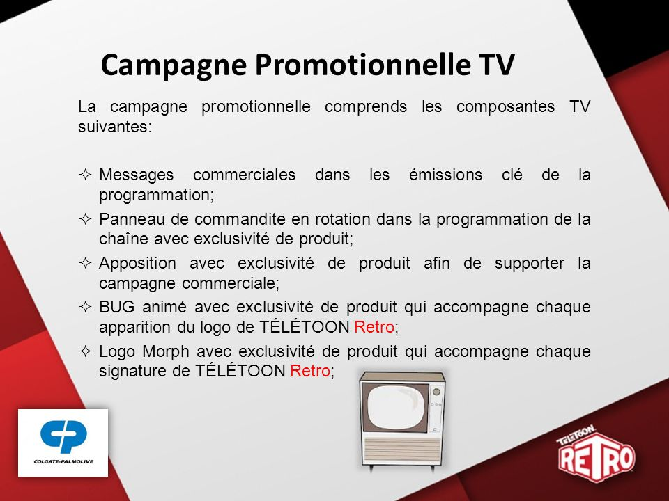Campagne Promotionnelle TV