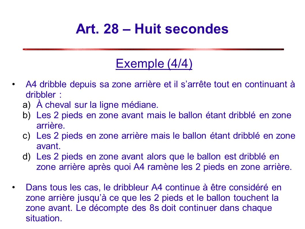 Art. 28 – Huit secondes Exemple (4/4)