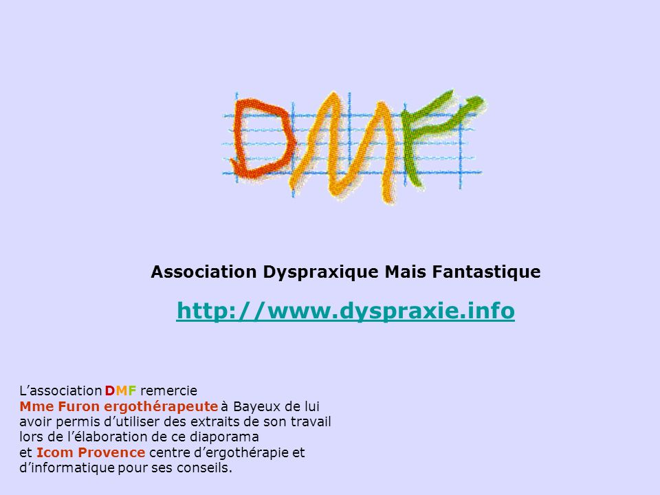 Association Dyspraxique Mais Fantastique