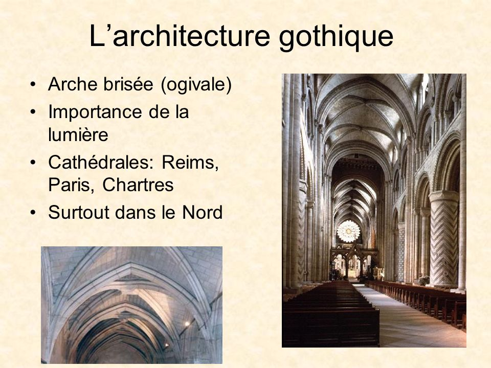 L'architecture gothique