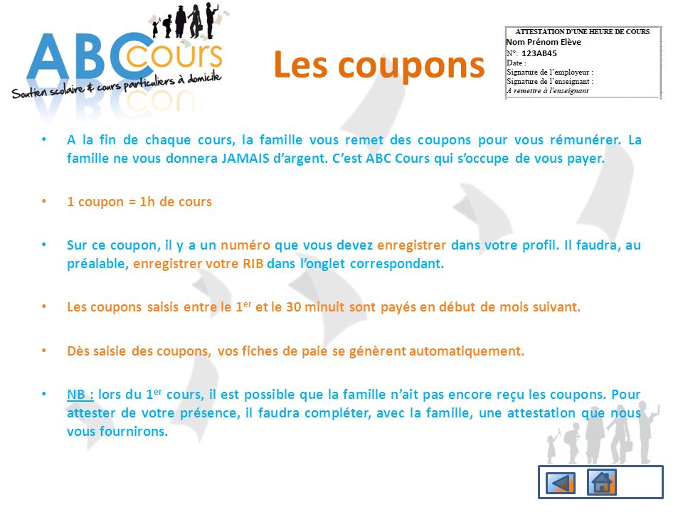 Les coupons