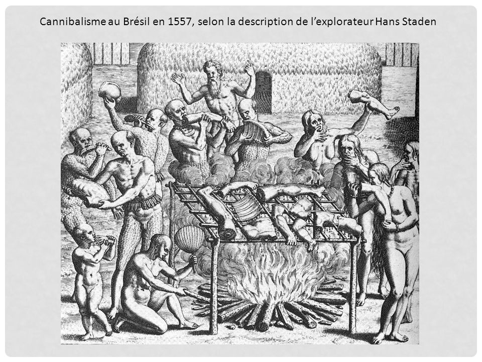 Cannibalisme au Brésil en 1557, selon la description de l'explorateur Hans Staden