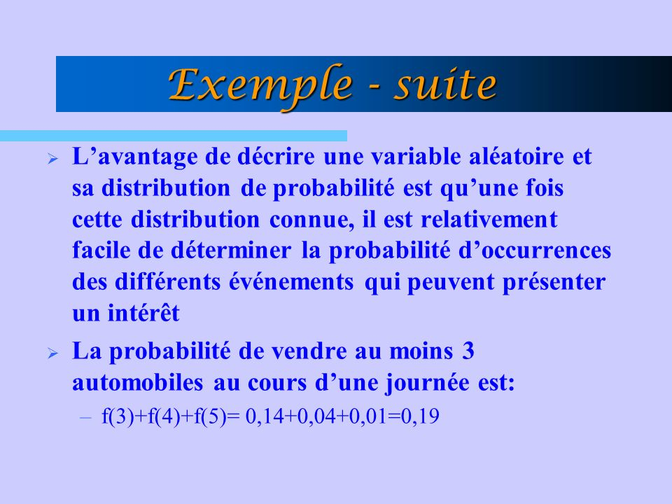 Exemple - suite