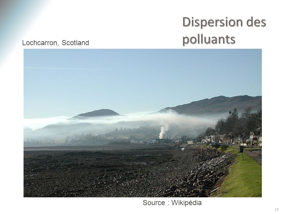 Dispersion des polluants