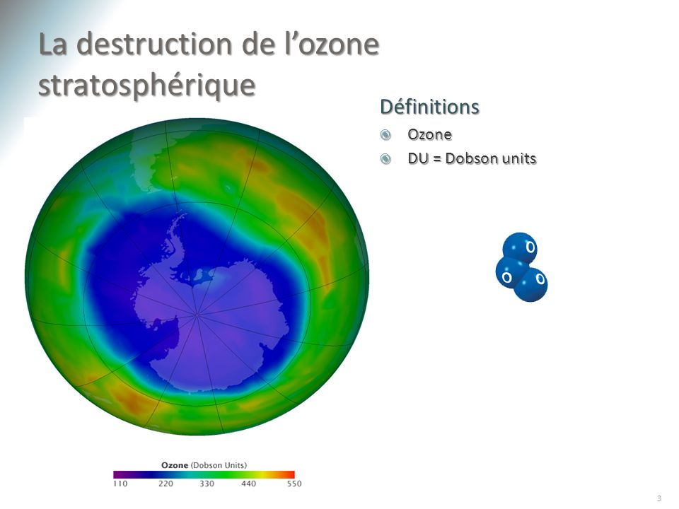 La destruction de l'ozone stratosphérique