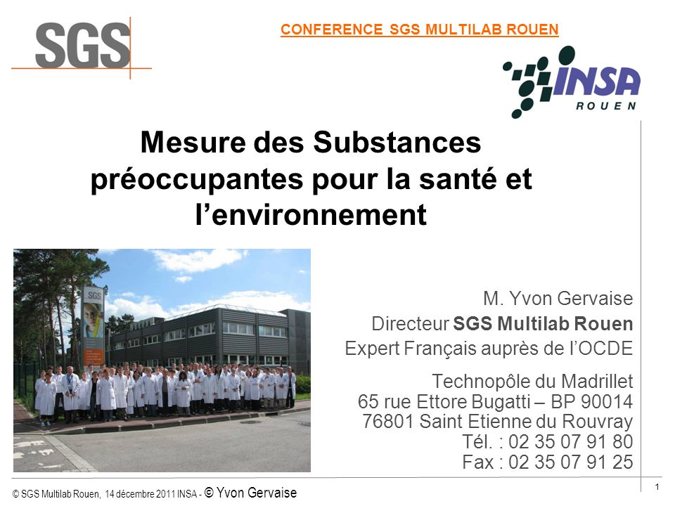 CONFERENCE SGS MULTILAB ROUEN