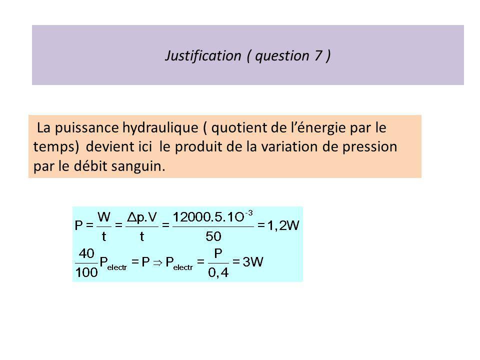 Justification ( question 7 )