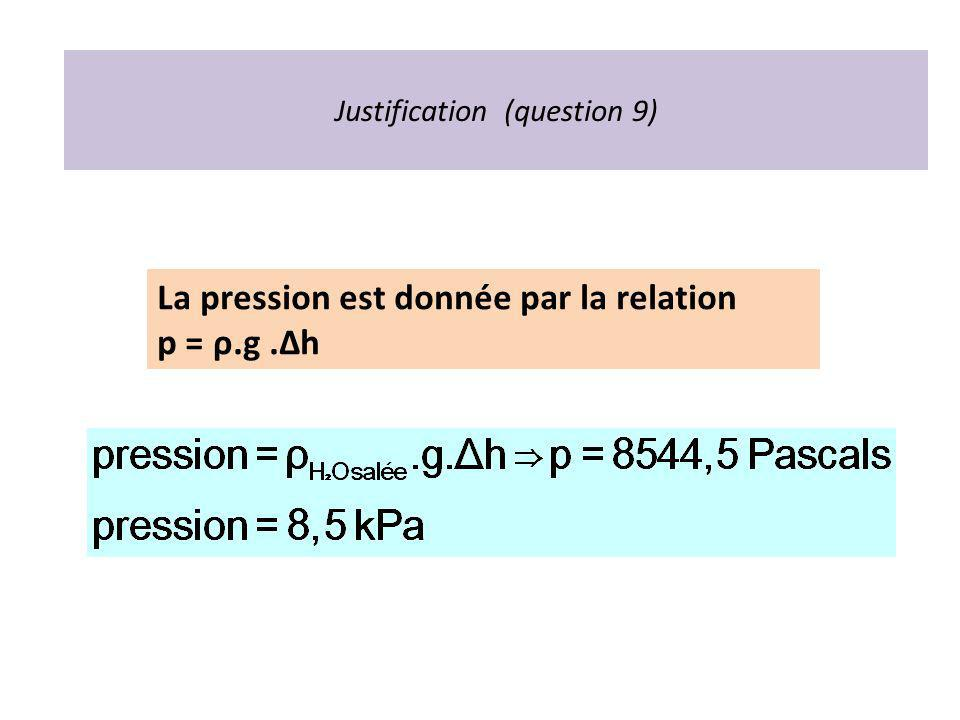 Justification (question 9)