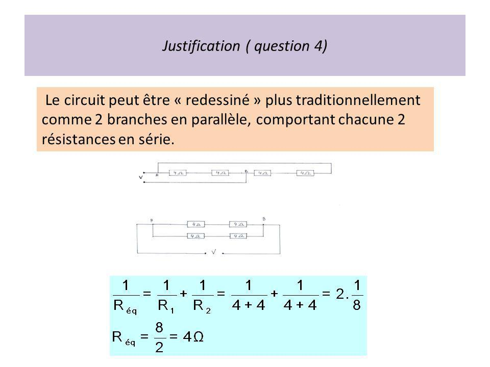 Justification ( question 4)