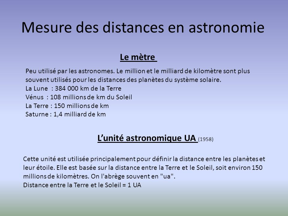 Mesure des distances en astronomie