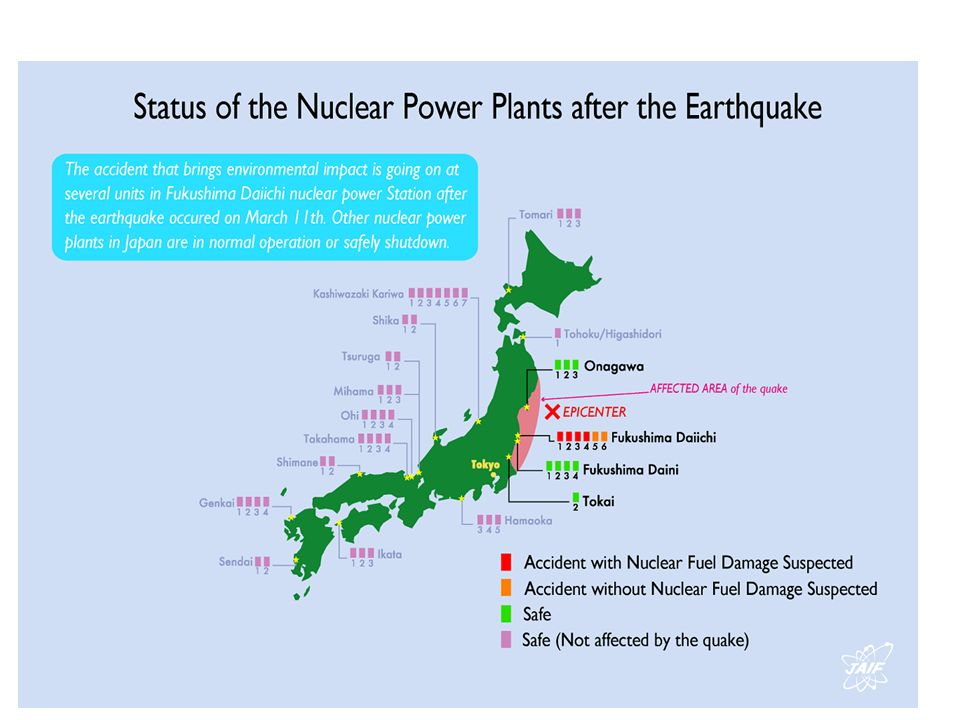 These are the nuclear power plants that have been affected by the earthquake first and the tsunami suddenly.
