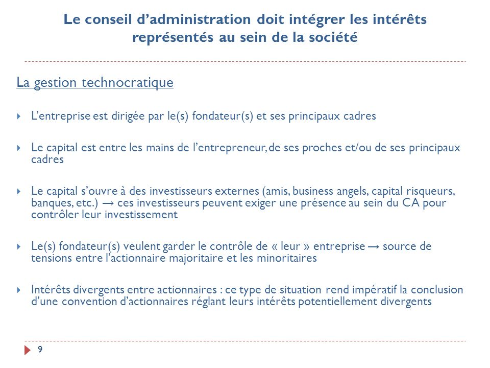 La gestion technocratique