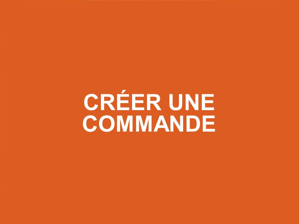 Créer une commande Title slide – use this as a title slide in between other slides.