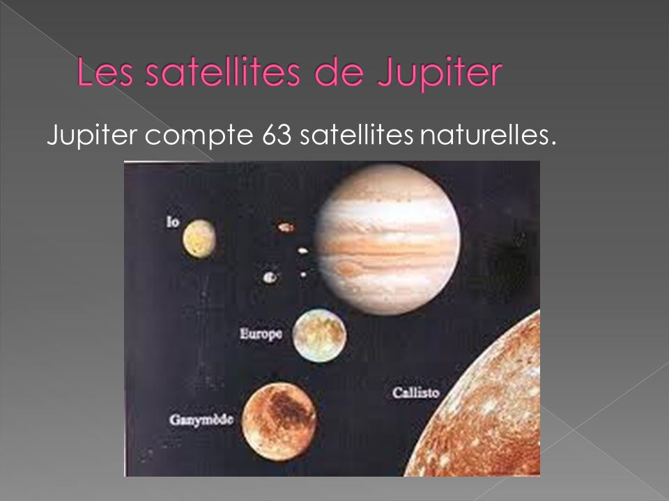 Les satellites de Jupiter