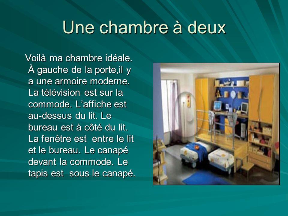 description d une chambre ppt video online t l charger. Black Bedroom Furniture Sets. Home Design Ideas