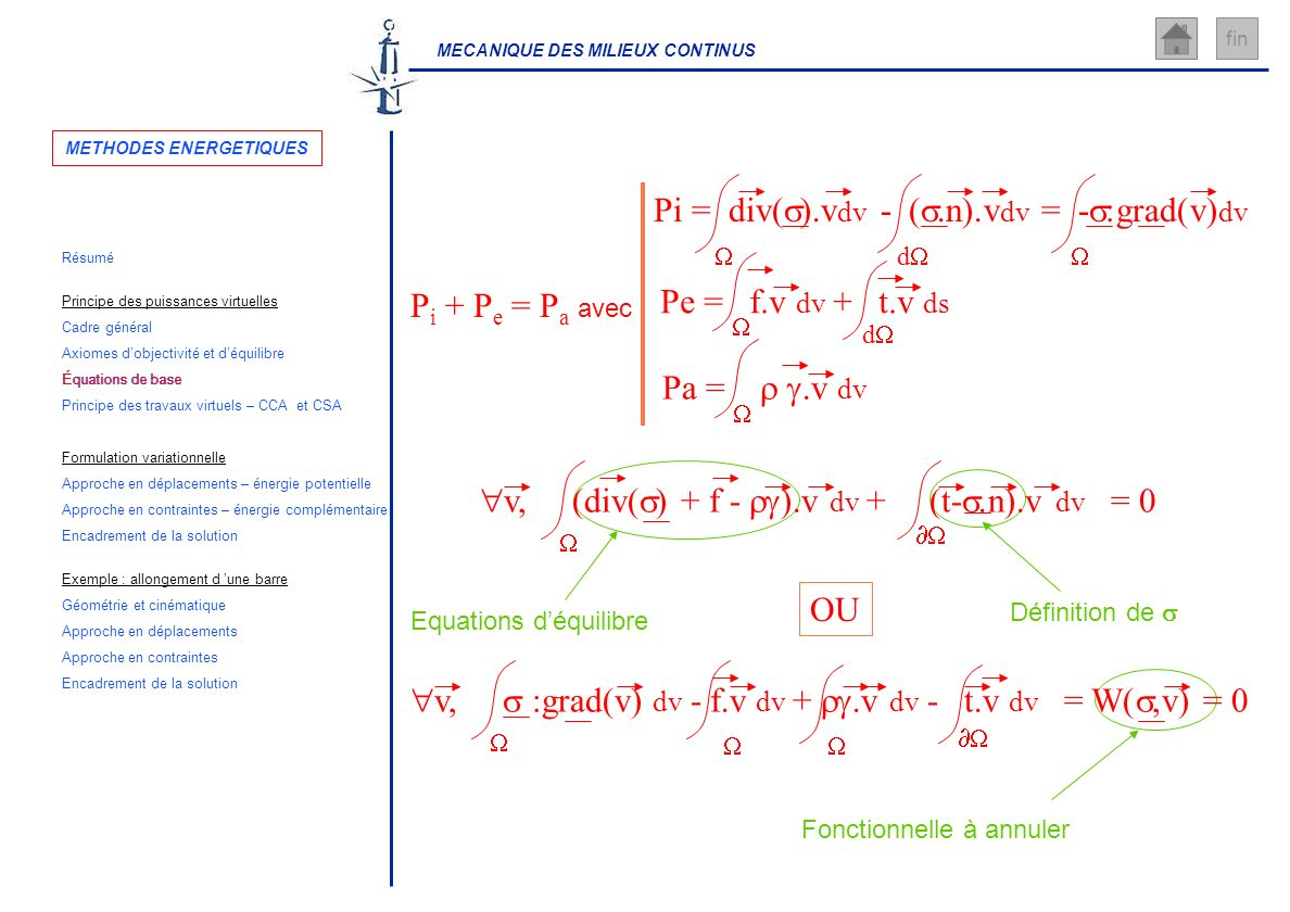 METHODES ENERGETIQUES