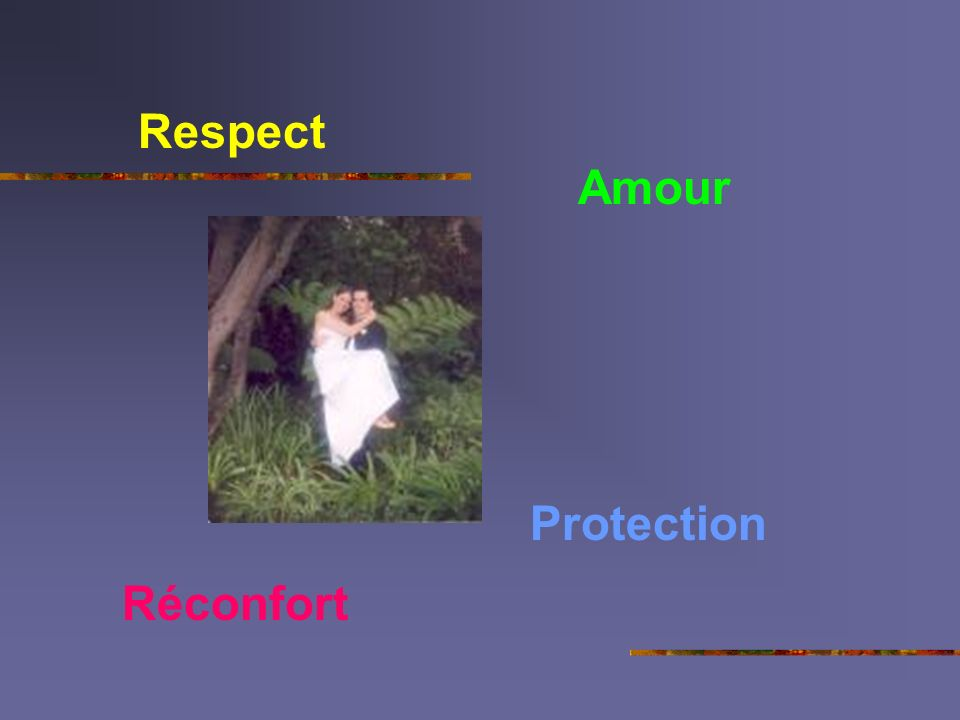Respect Amour Protection Réconfort