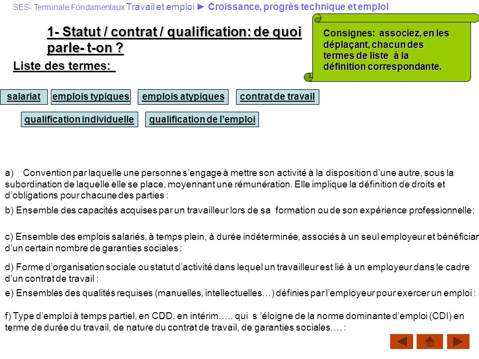 qualification individuelle qualification de l'emploi