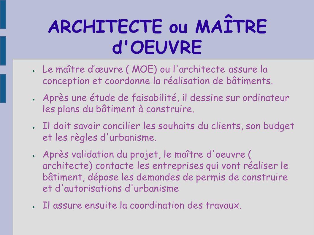 Visite d 39 un chantier de construction ppt t l charger for Maitre d oeuvre ou architecte