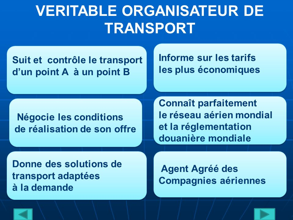VERITABLE ORGANISATEUR DE TRANSPORT