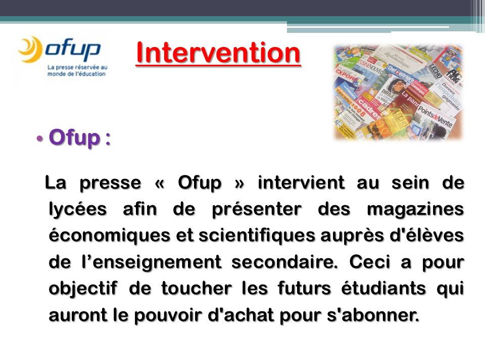 Intervention Ofup :
