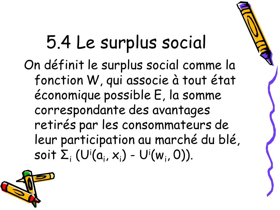 5.4 Le surplus social