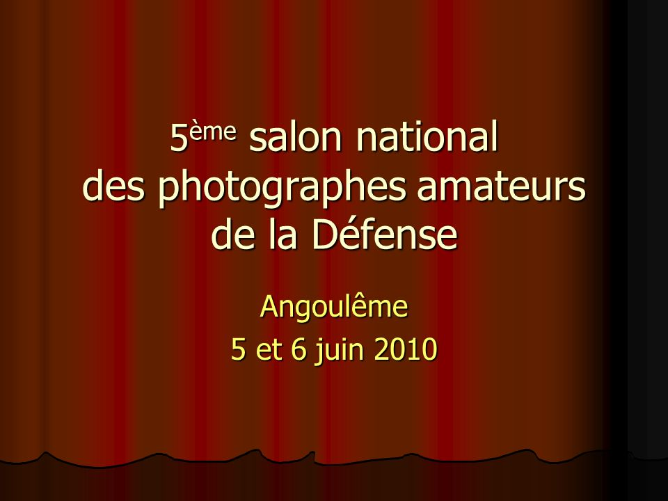 5ème salon national des photographes amateurs de la Défense