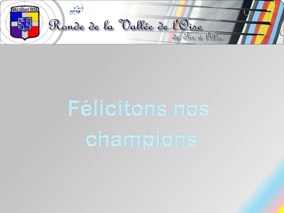 Félicitons nos champions