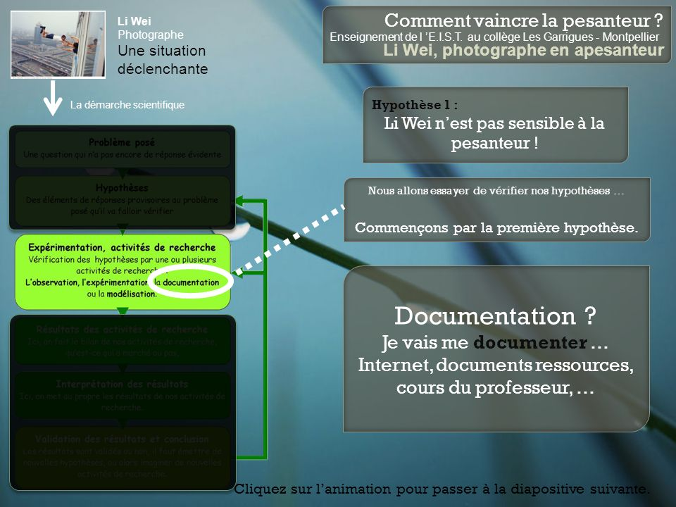 Documentation Je vais me documenter …