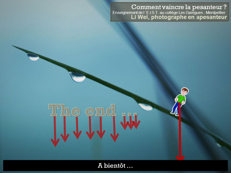 The end … A bientôt …