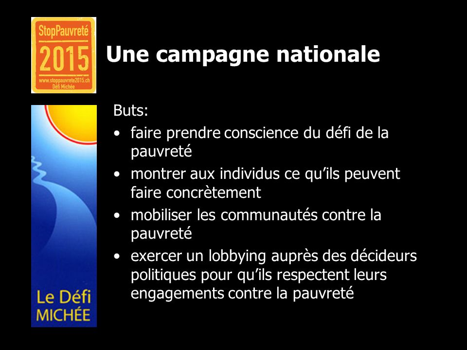 Une campagne nationale