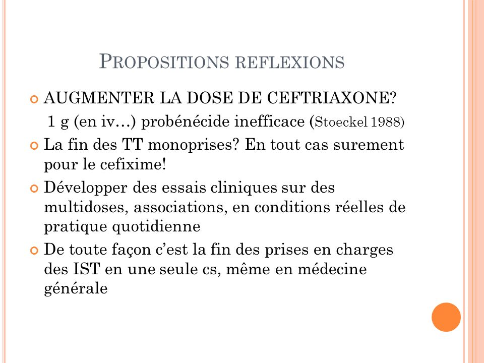 Propositions reflexions