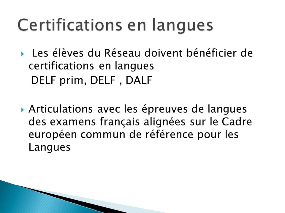 Certifications en langues