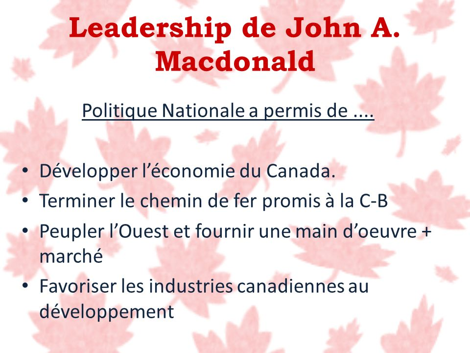 Leadership de John A. Macdonald