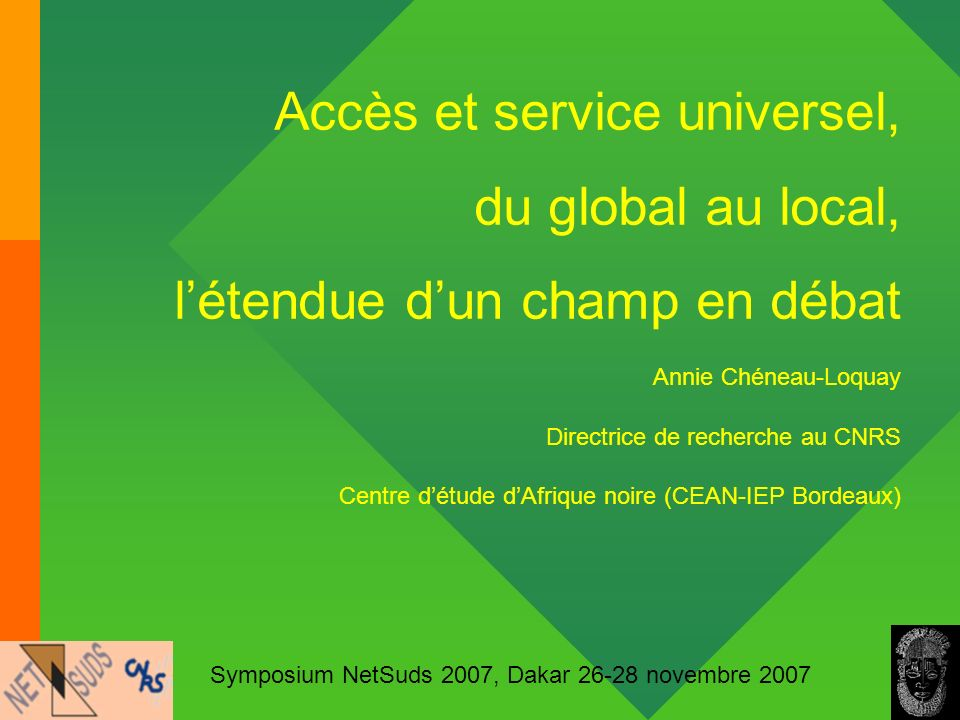 Accès et service universel, du global au local,