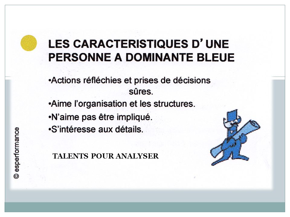 TALENTS POUR ANALYSER