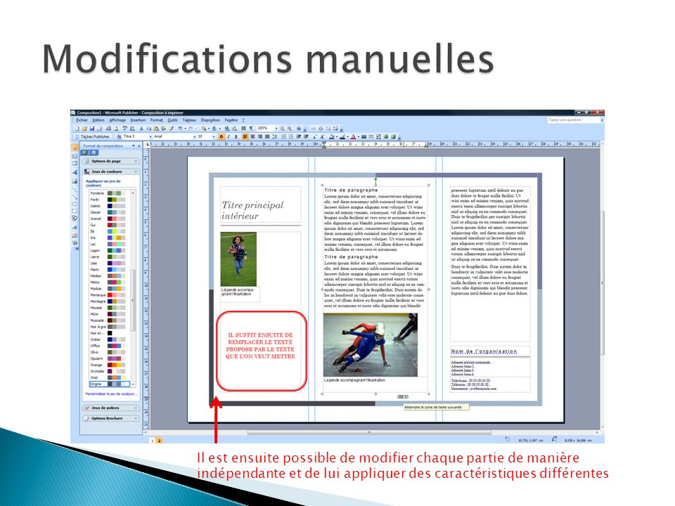 Modifications manuelles
