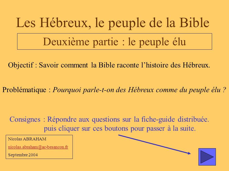 Les Hébreux, le peuple de la Bible - ppt video online