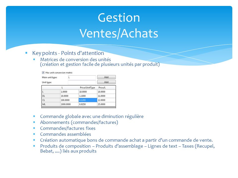 Gestion Ventes/Achats
