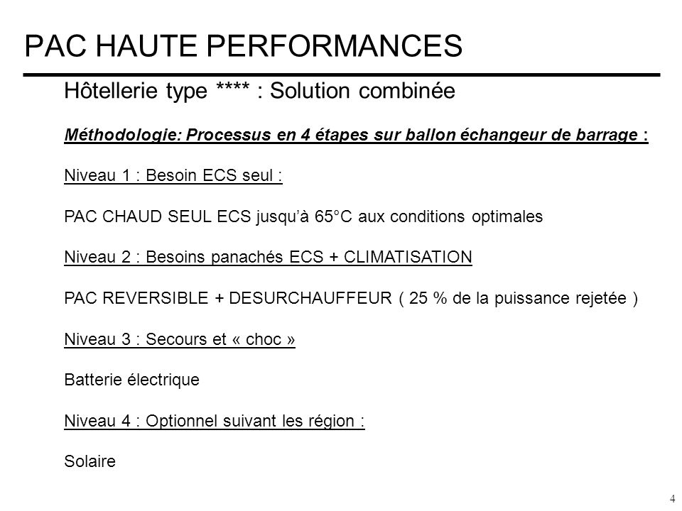 PAC HAUTE PERFORMANCES